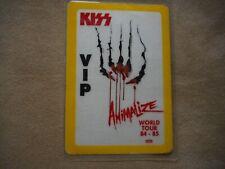"KISS ""ANIMALIZE"" VIP WORLD TOUR 84-85 ORIGINAL LAMINATED BACKSTAGE PASS"