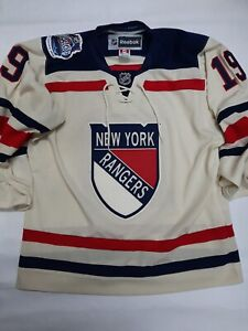 Reebok NHL New York Rangers Winter Classic 2012 Jersey 19 Richards Size M.