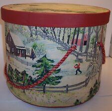Grandma Moses Fabric Sewing Box with Music