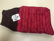 Outdoor Dog - Puffy Red and Brown Dog Jacket Large New