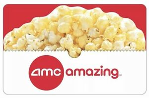 $50 AMC Movie Theater Gift Card, Delivered within Hours, 20% Off, Guaranteed!