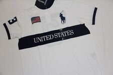 Polo Ralph Lauren Men Shirt Big Pony USA Flag XL XLarge  CUSTOM FIT