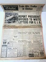 Boston Evening Globe Newspaper 1941 World War 2
