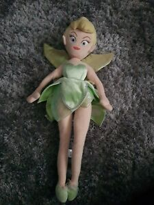 The Disney Store Princess Tinker bell Plush Soft Toy Teddy Doll