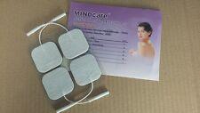 Mindcare LATEX FREE EMS / decine Autoadesiva ELETTRODI. CONFEZIONE DI QUATTRO. 40 x 40 mm.