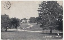 Leicester; Western Park PPC, 1904 PMK, To Miss Whitaker, Lysways St, Walsall