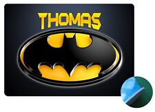 Batman Placemat A - Personalised any name -Easy Wipe Clean EVA Sponge Backed