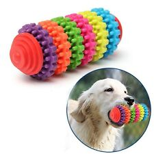 Rubber Pet Dog Puppy Dental Teething Healthy Teeth Gums Chew Toy Rainbow Tools