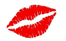 2 x Lips, Kiss Vinyl Sticker,Decal,Car,Window,Laptop,Wall,Mirror (REF 280)