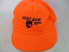 Wolf Gang Gym Bright Orange Snapback Adjustable Hat