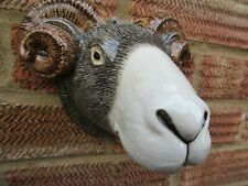 More details for beautiful quail ceramic large size swaledale sheep wall vase  boxed ideal gift