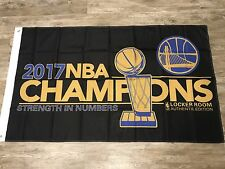 Golden State Warriors 2017 Champions 3x5 Ft Banner Flag Ships Same Day From Ca