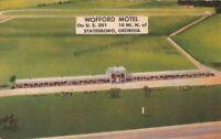 Postcard Wofford Motel Statesboro Georgia GA