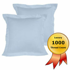 2 x 1000TC European Pillowcase Cotton Rich Cushion Cover 65x65cm Blue NEW