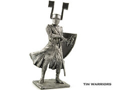Germany Knight 13 cent. Tin toy soldier 54mm miniature statue. metal sculpture