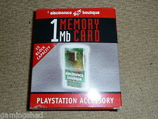 SONY PLAYSTATION 1 PS1 PSOne 1MB MEMORY CARD 15 Block BOXED Clear 1 MB MEM CARD