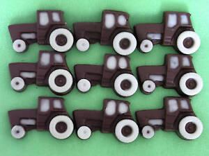 25 Hand-made Belgian Chocolate Mini-tractors
