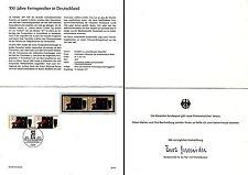 Ministerkarte Nr.32/1977 13.10.77 100J.Telefon i.Deutschland (mehrfach MiNr.947)
