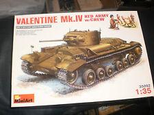 MiniArt 1/35 Valentine Mk.IV Red Army Tank w/Crew WWII #35092