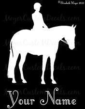 English Hunter Horse Decal Sticker CHOOSE COLOR & NAME
