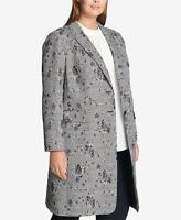 Calvin Klein Plus Size Floral-Printed Plaid Jacket Size 24W # 6A 810 NEW