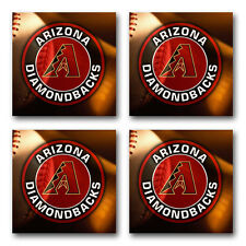 Arizona Diamondbacks Baseball Rubber Square Coaster set (4 pack) SRC2000