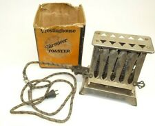 Westinghouse Chrome Pat 1914 Turnover Toaster Electric + Cord + Box Works!