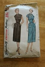 Vintage Simplicity Sewing Pattern Ladies Dress Size 16 #3576 - Complete