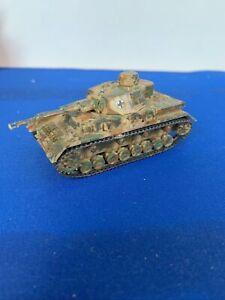 Built ESCI Panzer IV German Tank Kit 1/72 Scale Painted Detailed