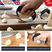 Kitchen Steel Garlic Press Crusher Manual Squeezer Rocking Hot