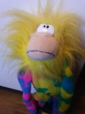 Vintage Gemmy Moving/Monkey Plush Rainbow With Yellow Hair