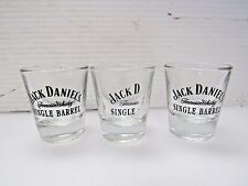Set of 3 Jack Daniel's Single Barrel Tennessee Whiskey Shot Glass Shooter I901