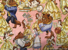 Disney Beauty and The Beast Belle Cotton Packed fabric by the yard