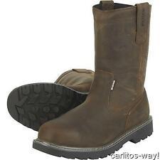 New Wolverine Floorhand Welly Steel Toe Mens Boots Sz 9.5 Dark Brown Leather