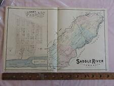 Original 1876 Bergen Co. Rutherford Union Twp. Lodi 17x28 map prints New Jersey