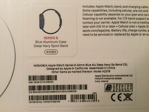 Apple Watch Series 6 44mm Blue Brand New Unopened (GPS+CELLULAR)