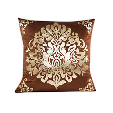 Soft Gold Velvet Foil Printing Waist Sofa Throw Cushion Home Decor Pillow Case