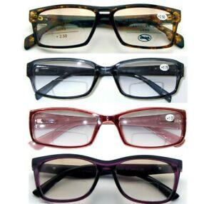 Unisex Stylish BIFOCAL Light Tinted Reading Glasses Selection Metal Or Plastic^^