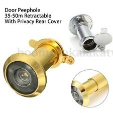 200° Adjustable 35-50mm Security Home Door Viewer Peep Eye Spy hole With Cover
