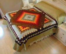 NEW! AMISH HANDMADE QUILT! ~ Trip in the Commons ~ 98 x 112