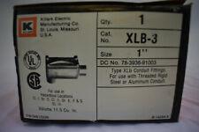 """1"""" Killark Conduit Body XLB-3 Electrolet Explosion Proof Hazardous Locations"""