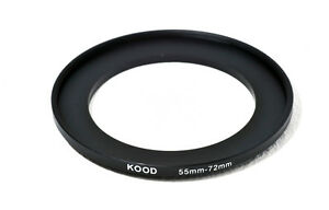 55mm-72mm 55-72 Stepping Ring Filter Ring Adapter Step up