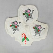 Mullins Square Kids Unisex Baby White Christmas Holiday Bloomers Set of 4 New