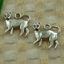 free ship 50 pieces tibetan silver dog charms 17x15mm #3520