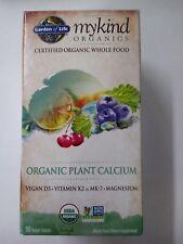 Garden of Life MYKIND Organic Plant Calcium 90 Vegan Tablets NIB (D3+K2+Magnesiu