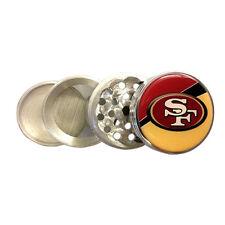 FORTY NINERS KITCHEN SPICE GRINDER HERB 4 PIECE TOBACCO 49ERS SAN FRANCISCO NFL