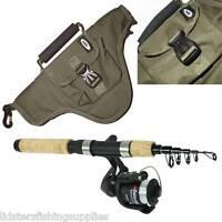 Mini Travel Telescopic Carbon Rod and Reel Combo Onamazu + Travel Fishing Bag
