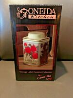 ONEIDA Ceramic Vintage Label Collection Camellia Canister 7""