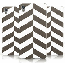 DYEFOR ZIGZAG BLACK & WHITE SPLIT PATTERN PHONE CASE COVER FOR SONY XPERIA