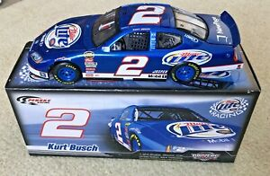 #2 KURT BUSCH MILLER LITE 2007 DODGE CHARGER 1/24 DRIVERS SELECT PENSKE